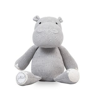Jollein Knuffel Soft knit hippo light grey