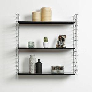 TOMADO Boekenrek | Zilver & Zwart