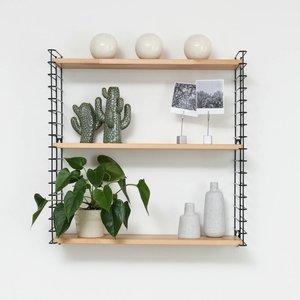 TOMADO Boekenrek | Zwart & Hout
