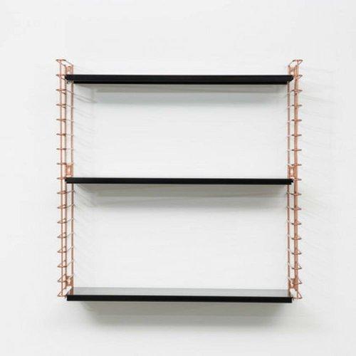 TOMADO Boekenrek | Koper & Zwart
