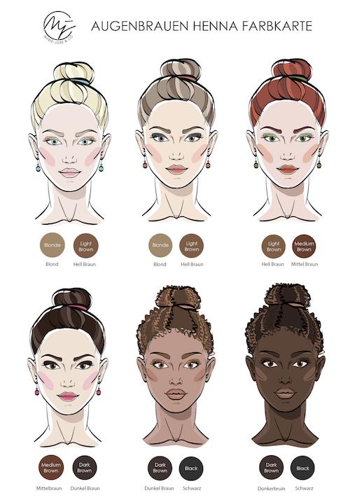 Henna Brows - Henna Augenbrauen - Augenbrauenfarbe