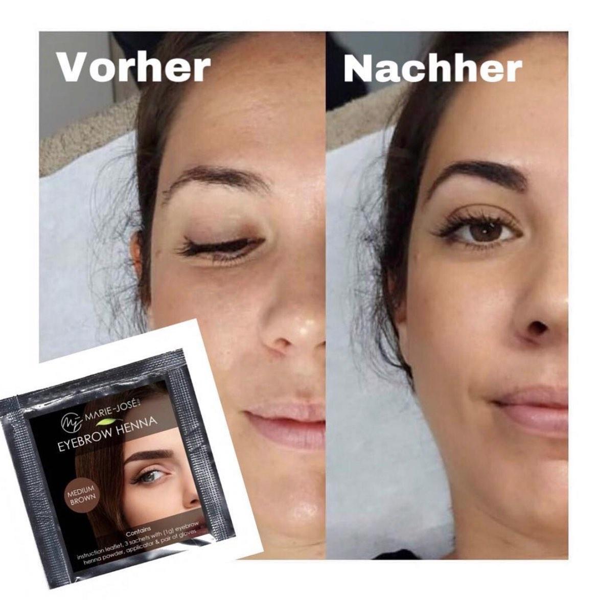 Augenbrauen Henna Vorher Nachher Henna Brows