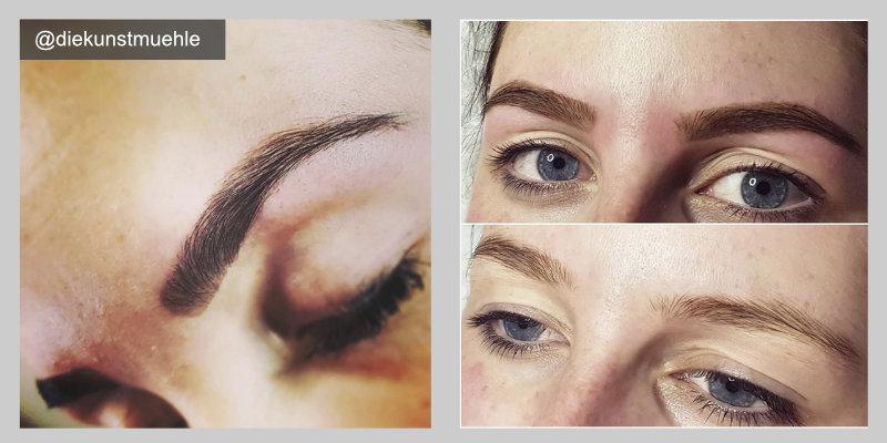 Brow Henna Erfahrung Vorher Nachher Augenbrauen färben mit Henna Brows