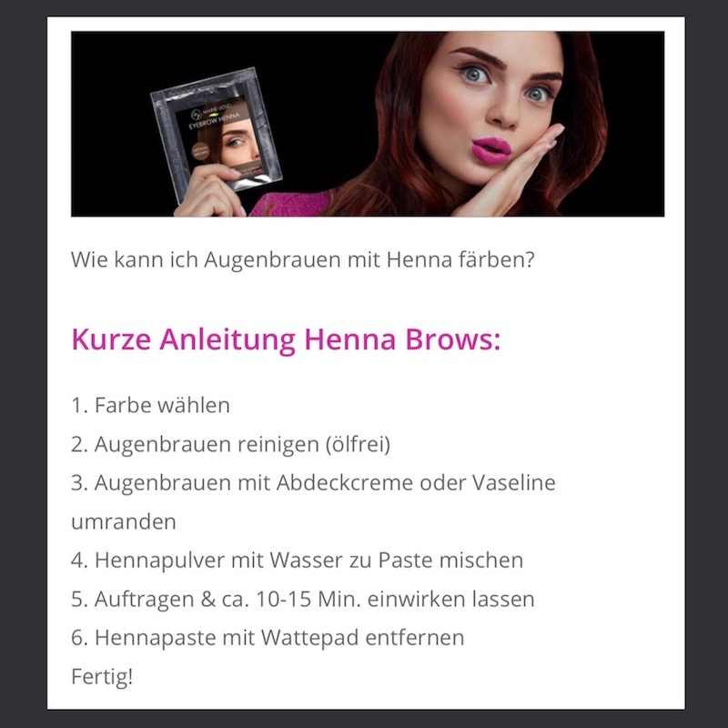 Erfahrung Augenbrauen Henna Anleitung Brows