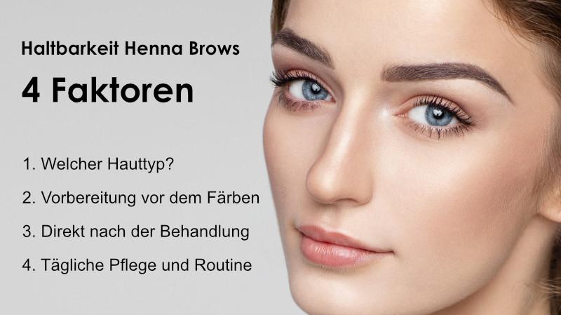 Henna Brows Haltbarkeit Augenbrauen