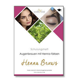 Marie-José Henna Brows Training Booklet