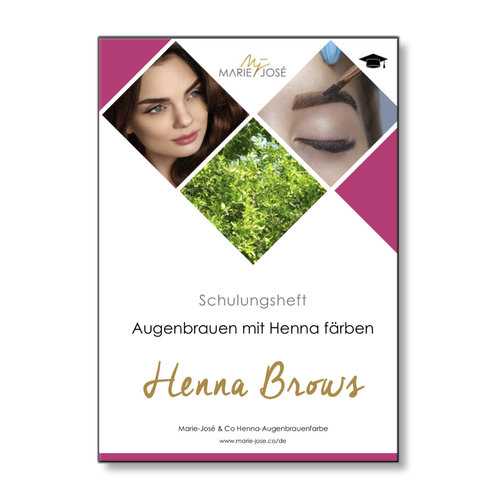 Marie-José Schulungsheft Henna Brows Schulung / Training