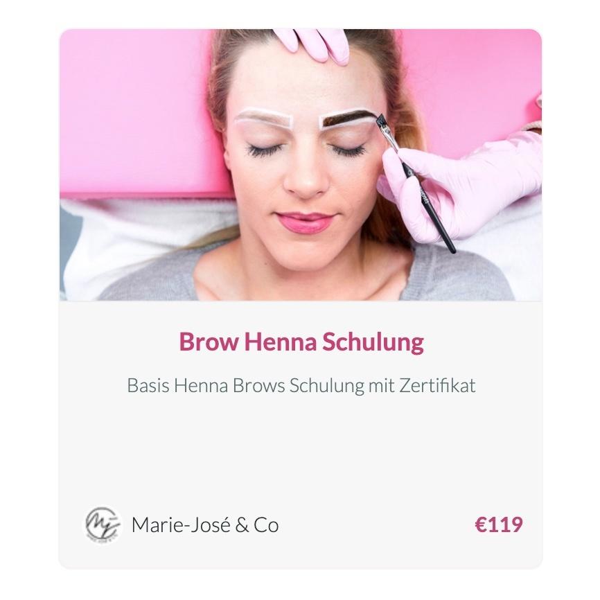 Brow Henna Schulung Online Augenbrauen