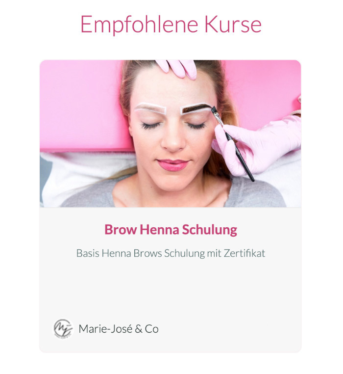 Henna Brows Schulung