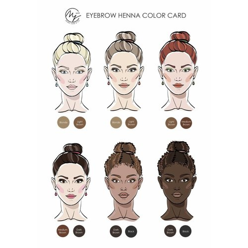 Marie-José Henna Brows starter kit - All colors & accessories