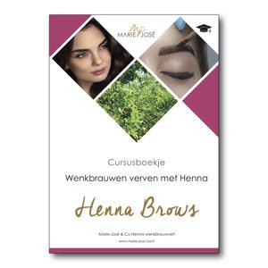Marie-José Schulungsheft Henna Brows Schulung / Training