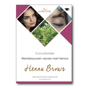 Marie-José Training Manual : everything you need to know about Henna Brows!