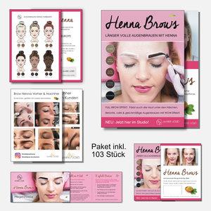 Marie-José Werbematerial - Marketing Henna Brows (deutsch)