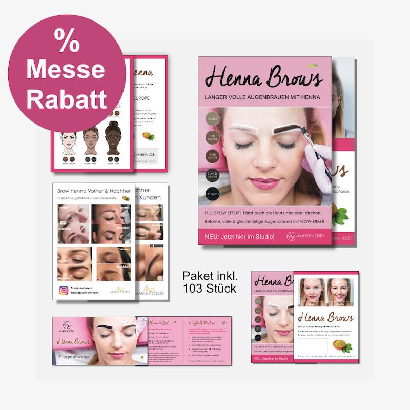 Werbung Brow Henna Brows Flyer Werbematerial Marketing