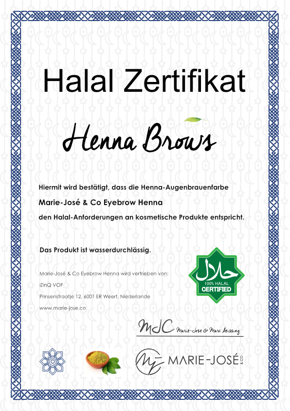 Augenbrauen Henna Halal Brow Henna
