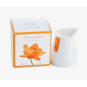 Marie-José Aromatherapy massage oil candle made from soy wax and caring oils