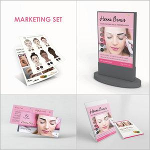 Marie-José Set de marketing henné pour sourcils Henna Brows