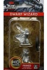 Wiz-Kids D&D Nolzur's Marv Unpainted Minis: Dwarf Male Wizard