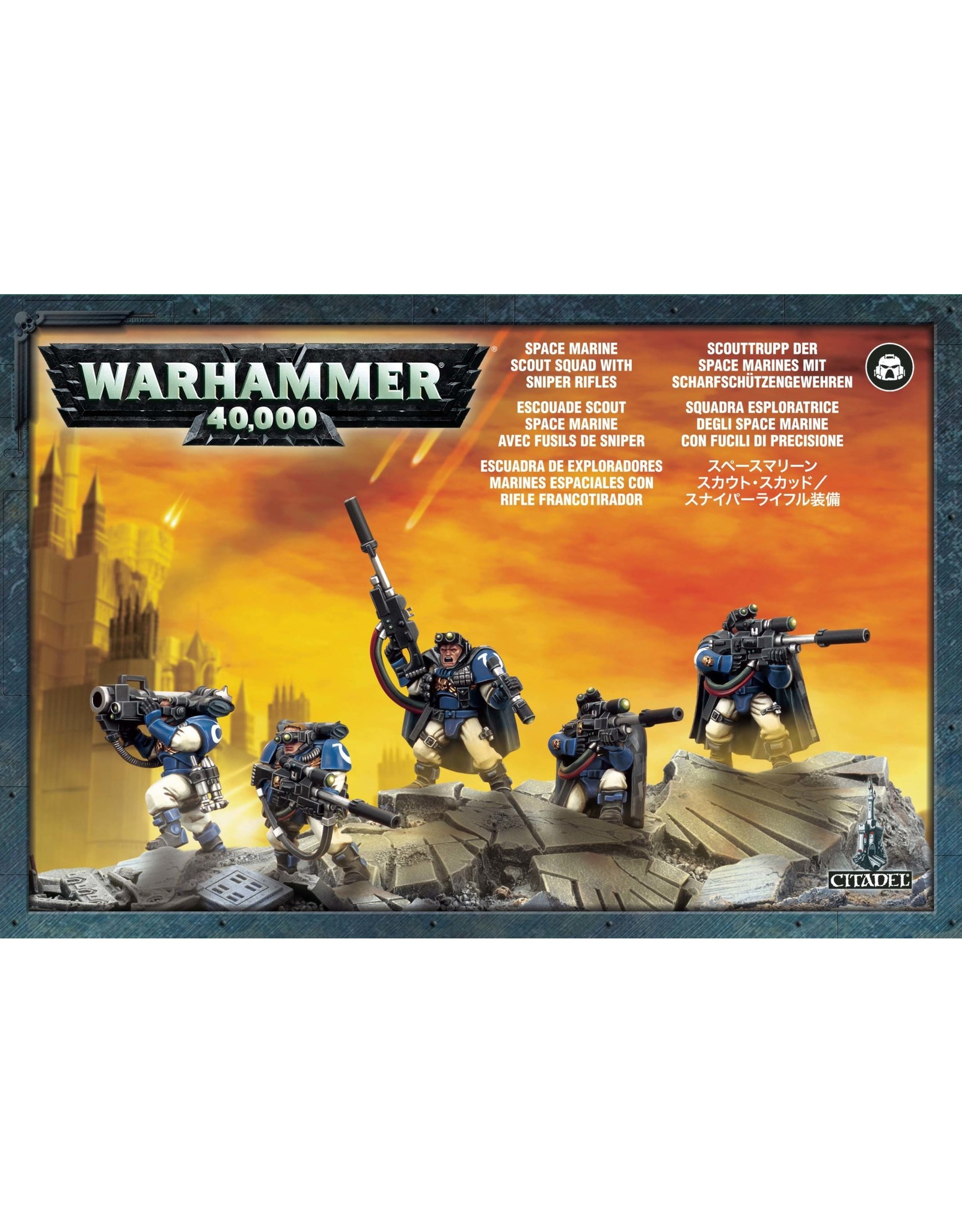 Games-Workshop SPACE MARINE SCOUTS WITH SNIPER RIFLES