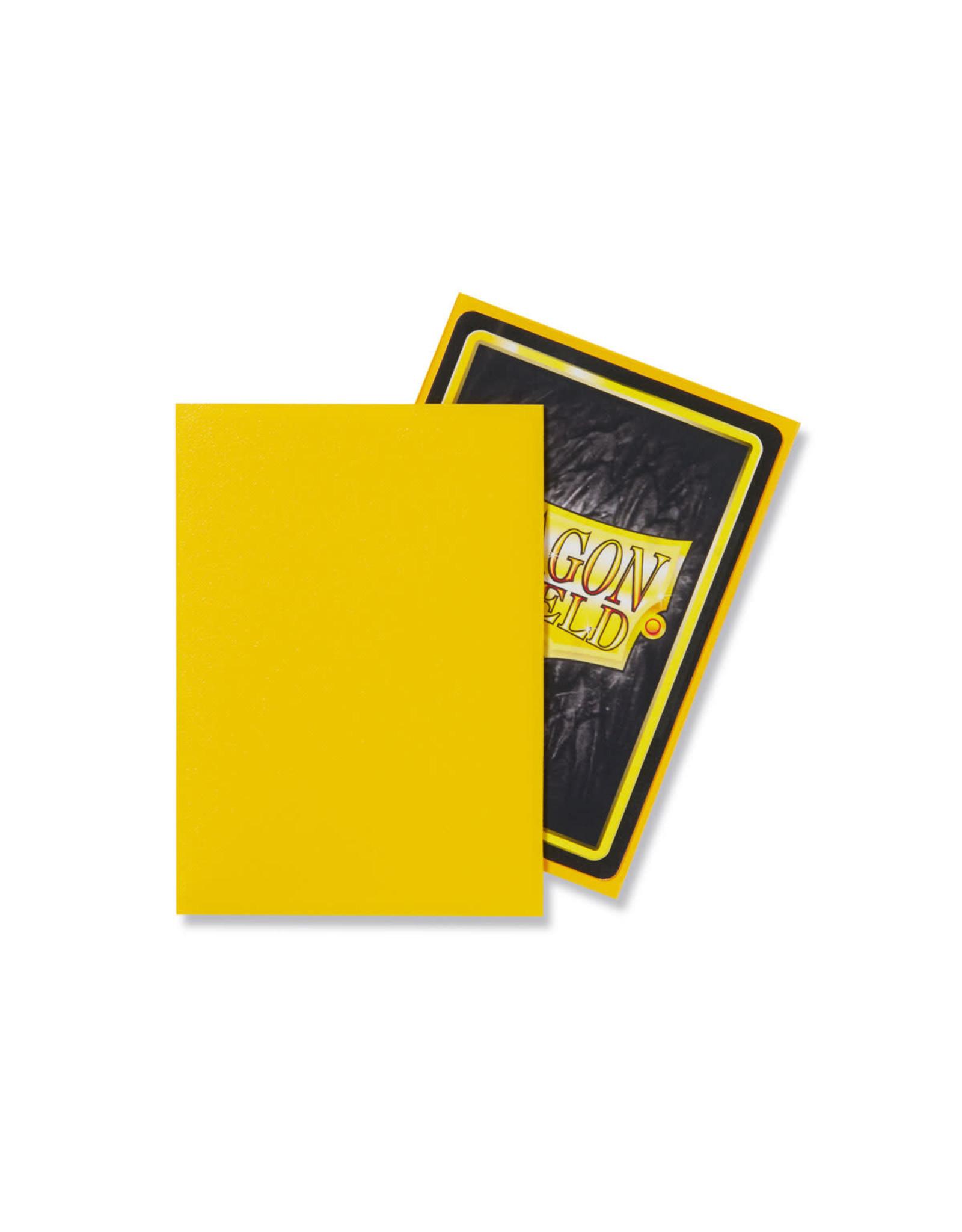 DRAGON SHIELD SLEEVES: MATTE Yellow (BOX OF 100)