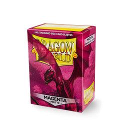 DRAGON SHIELD SLEEVES: MATTE Magenta (100 in box)