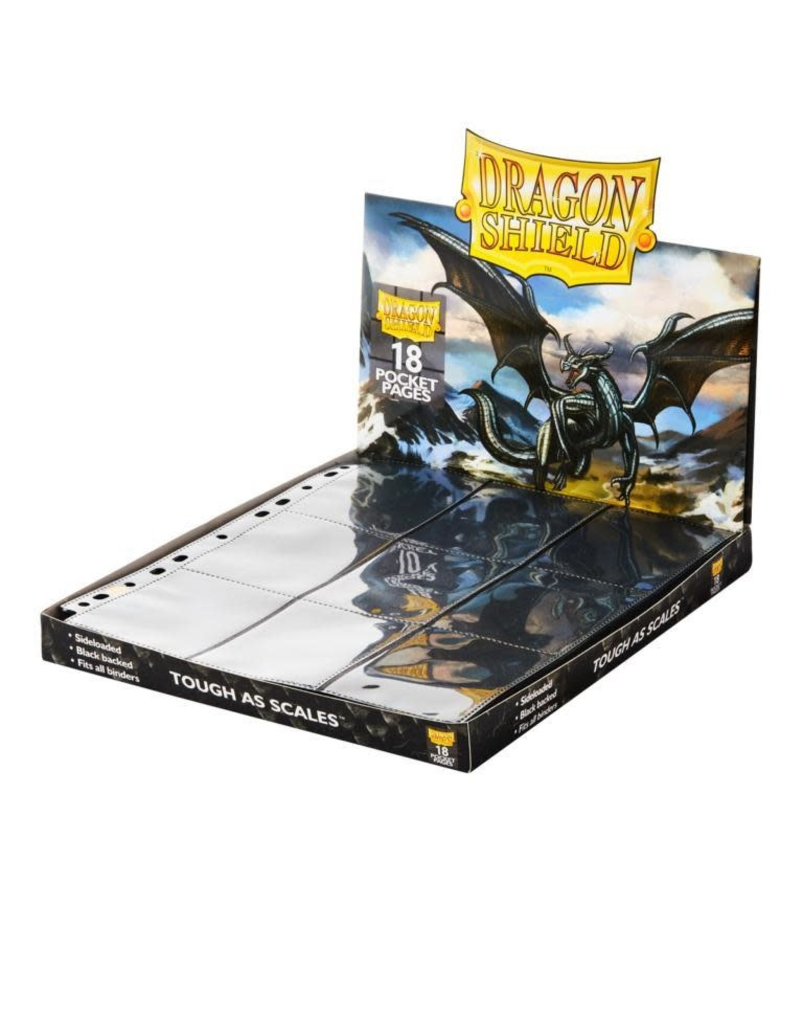 Dragon Shield 18-pocket Pages black single