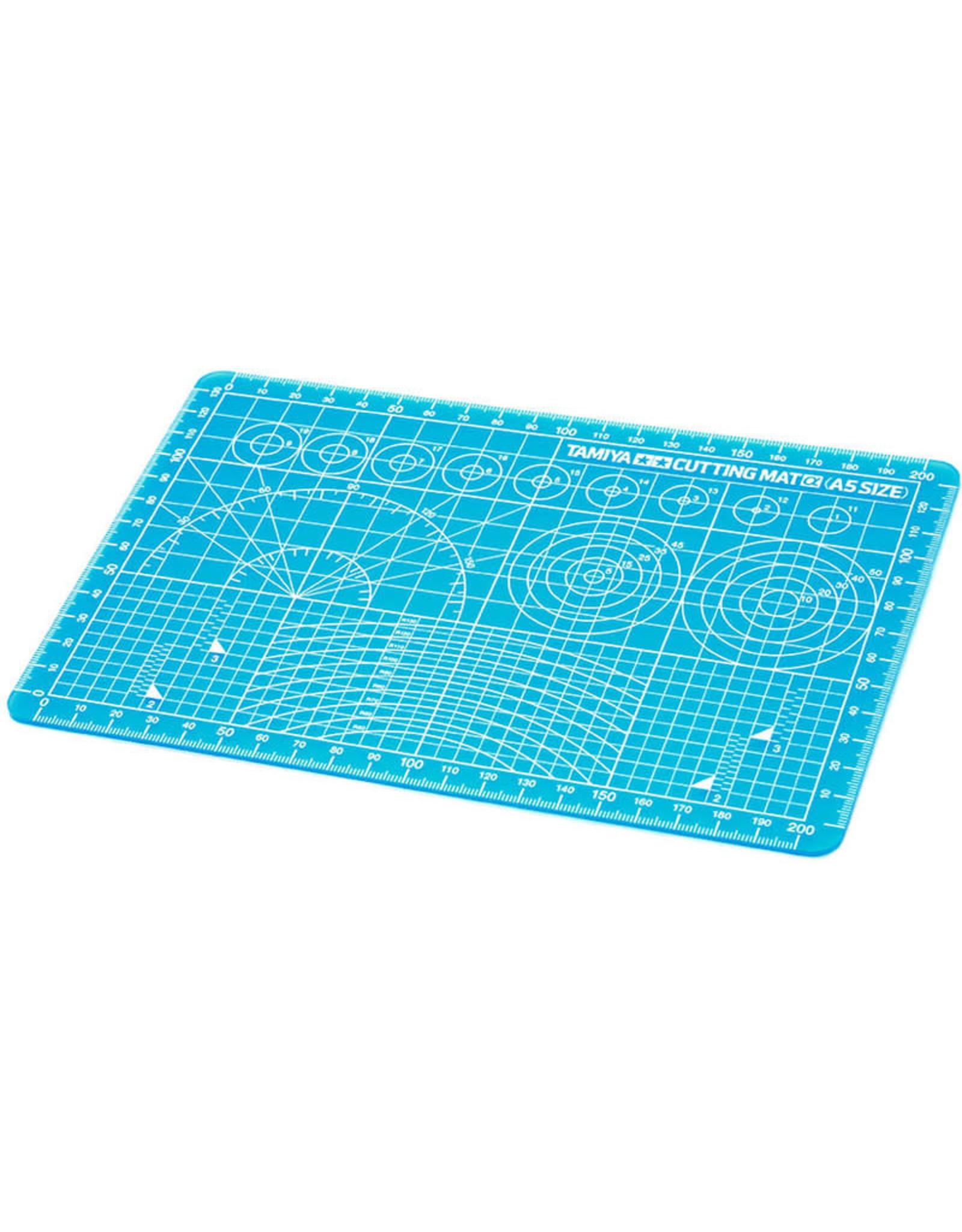 Tamiya Cutting Mat (A5 Size/ Blue)