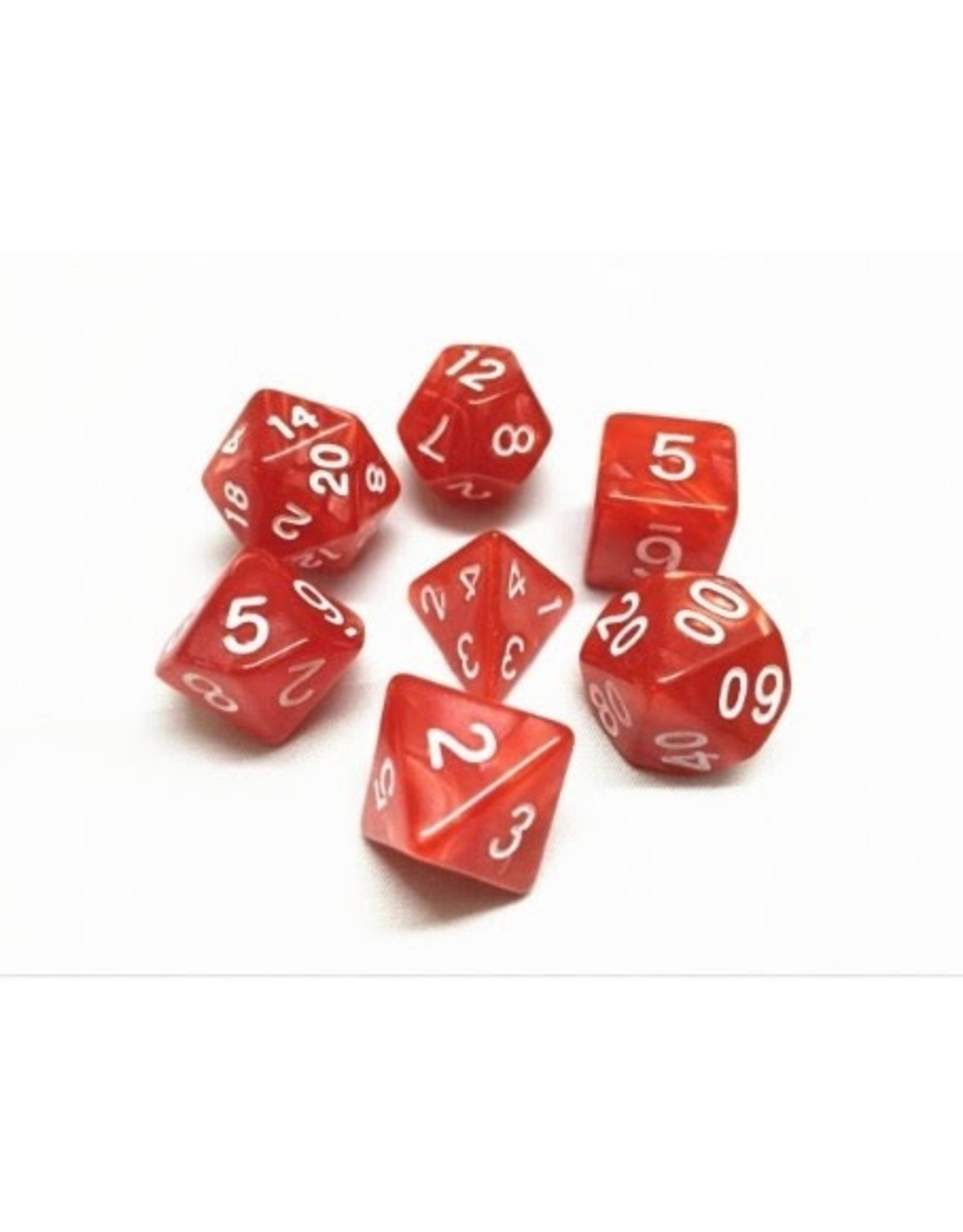 Dice Set  - Pearl  (Red)