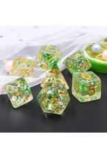 Dice Set  - Green Flakes