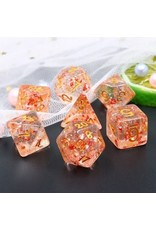 Dice Set  - Red Flakes