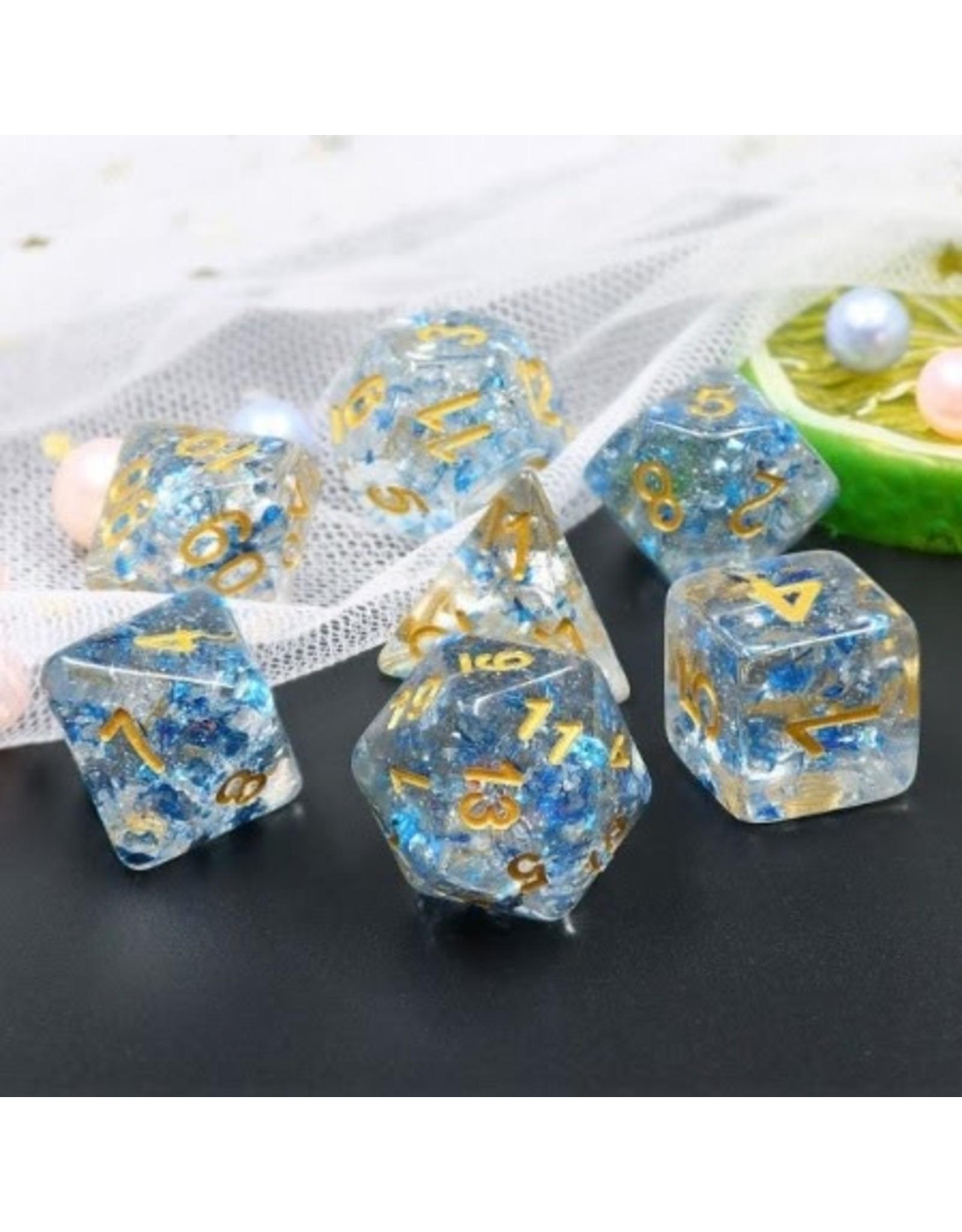 Dice Set  - Blue Flakes