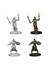 PF Deep cuts Unpainted Minis: Elf Female Fighter