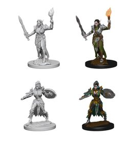 PF Deep cuts Unpainted Minis: Elf Female Fighter