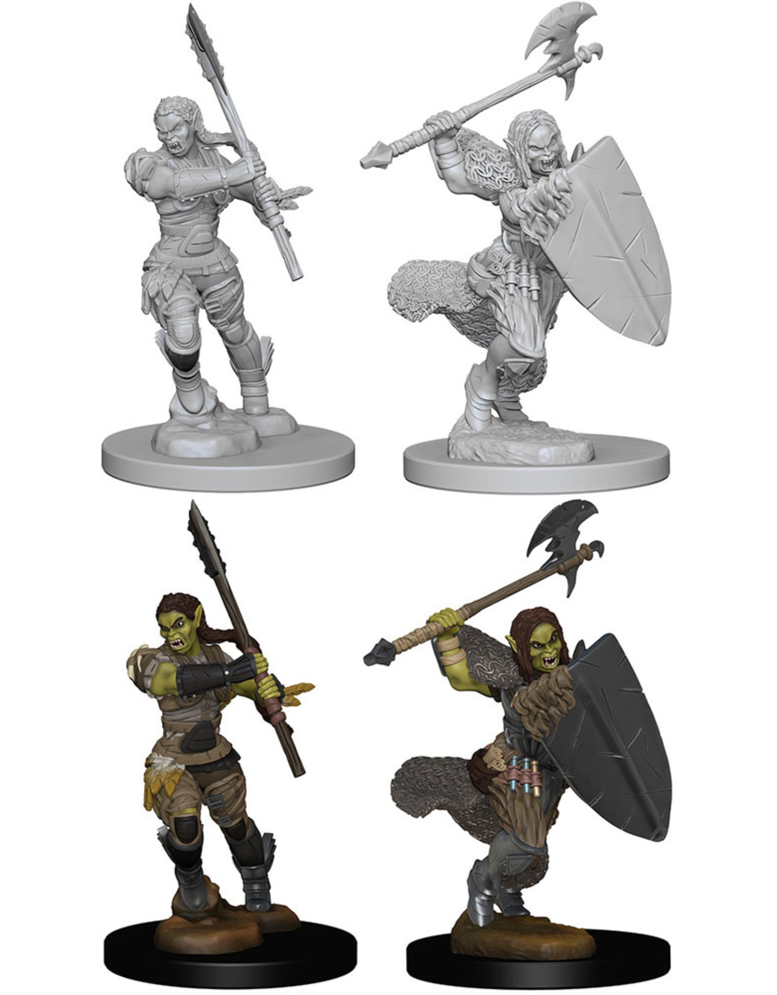 PF Deep cuts Unpainted Minis: Halforc Female Barbarian