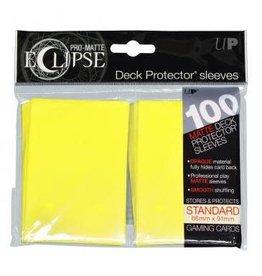 PRO-Matte Eclipse Lemon Yellow Standard Sleeves 100ct