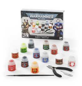 Games-Workshop Warhammer 40,000: Paints + Tools Set