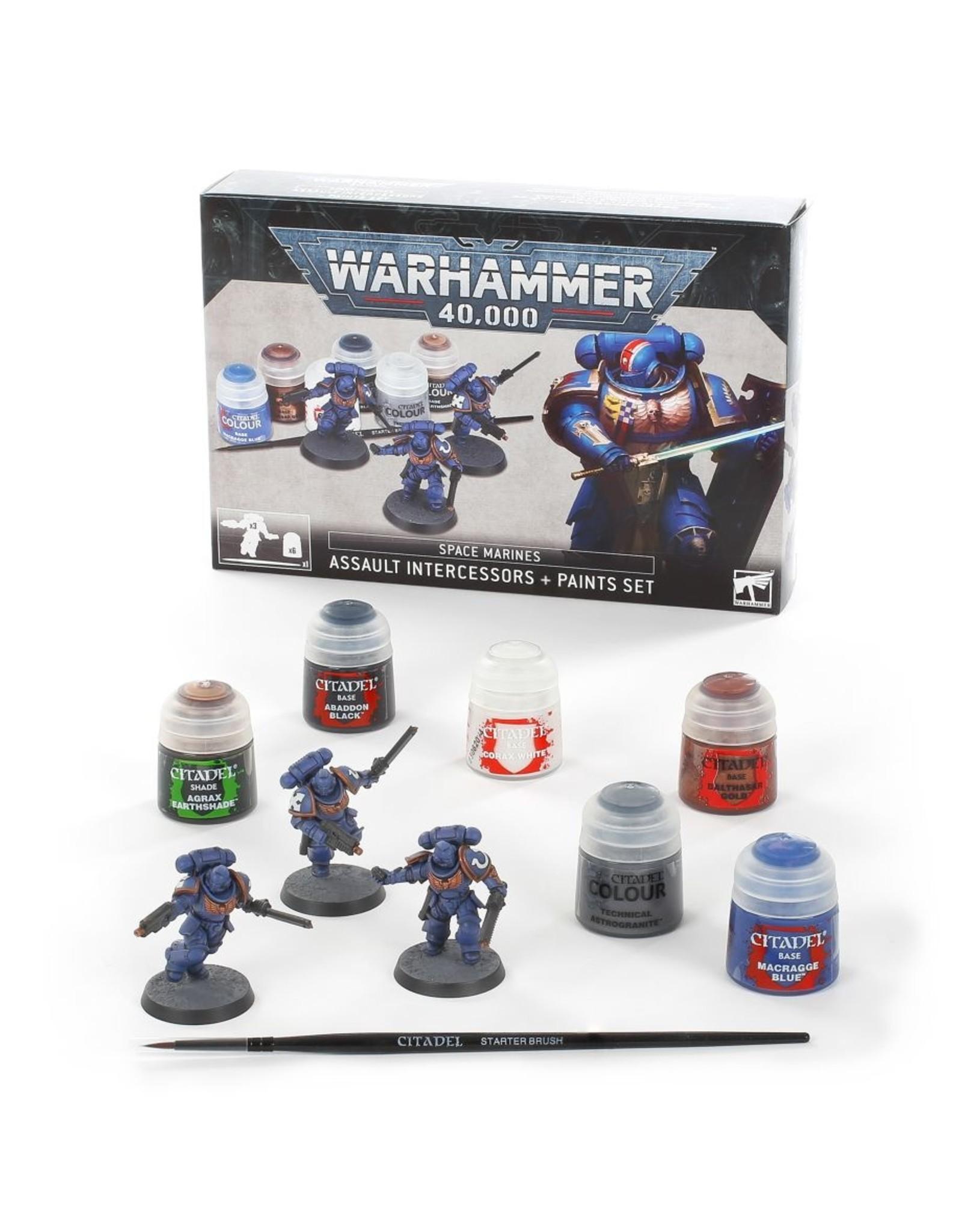 Games-Workshop Space Marines: Assault Intercessors + Paints Set