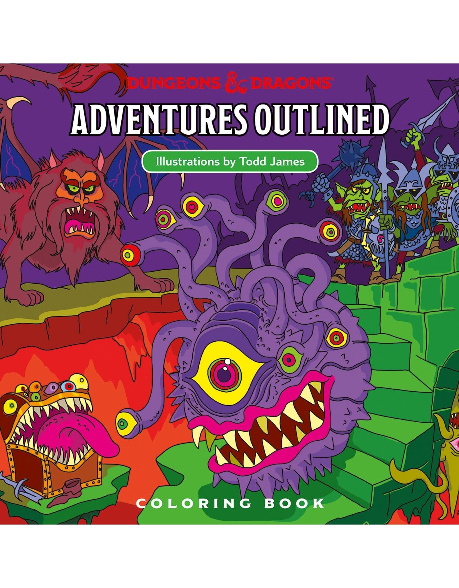 Wizards of the Coast Adventure Outlined Colouring Book