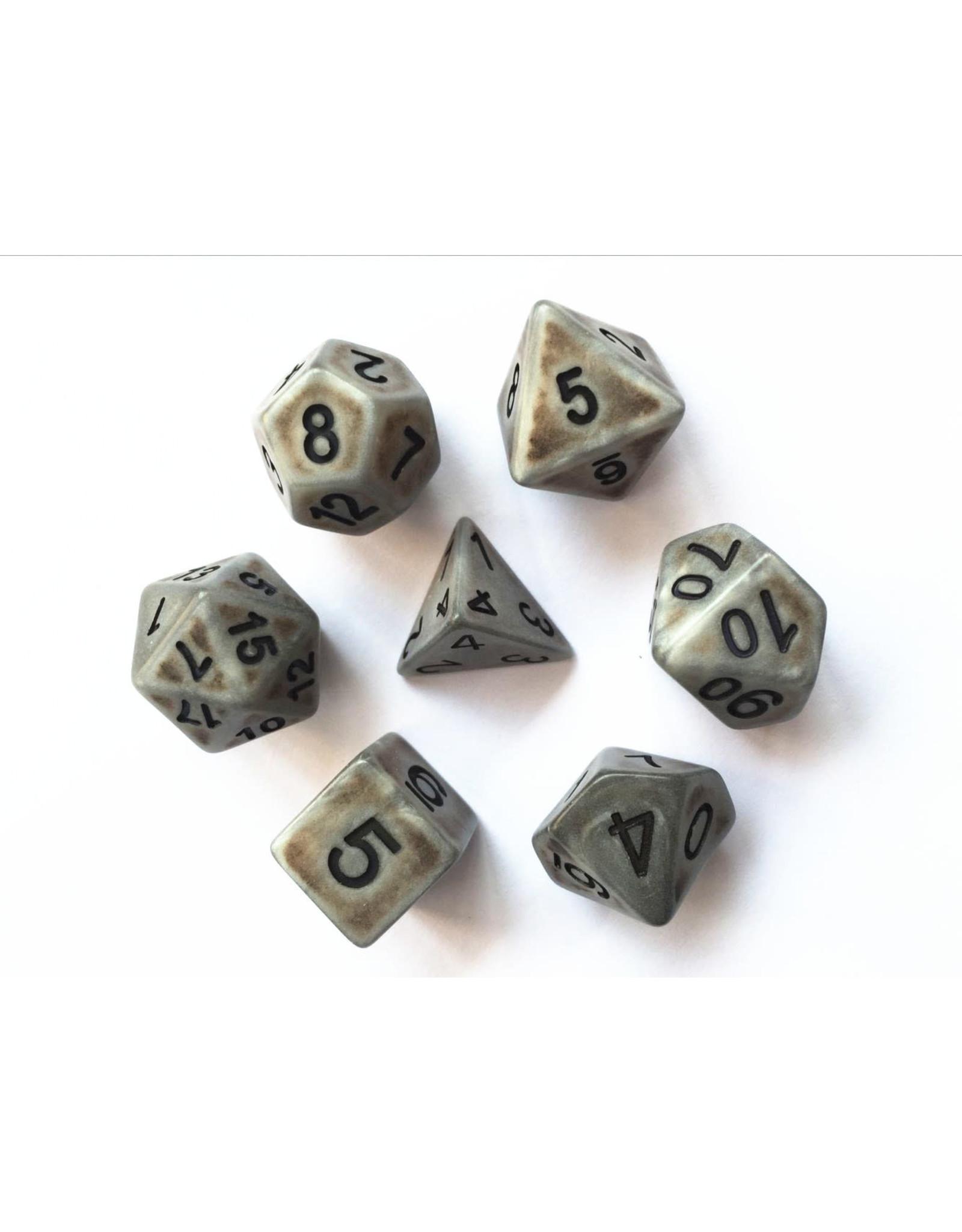 Dice Set  - Ancient Silver