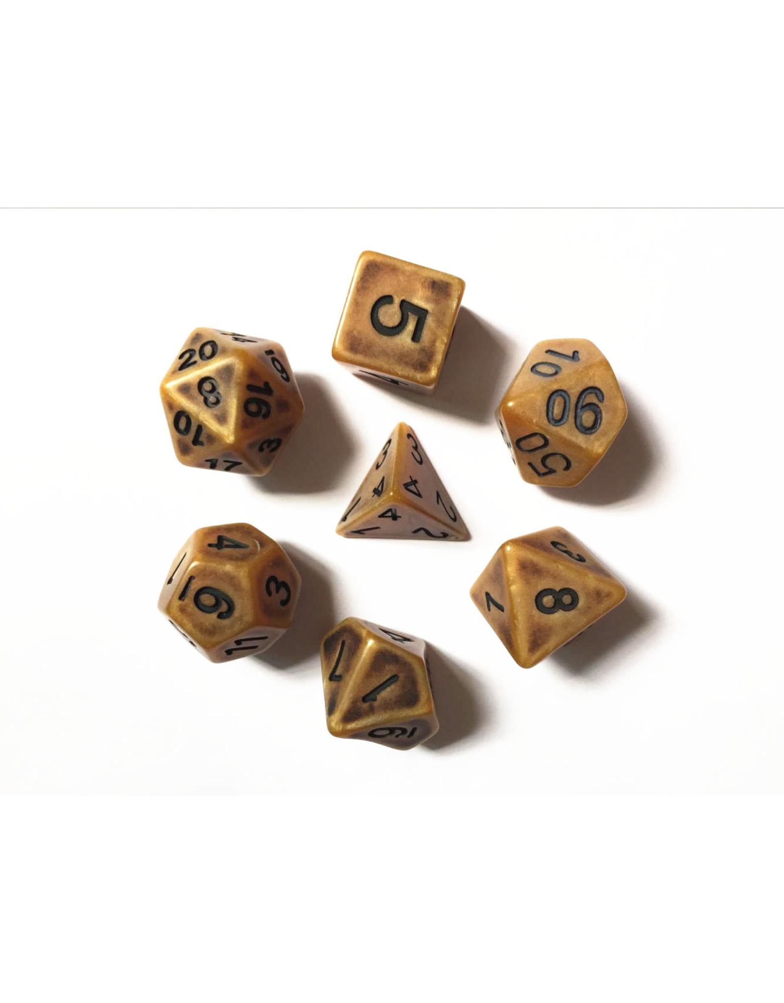 Dice Set  - Ancient Gold