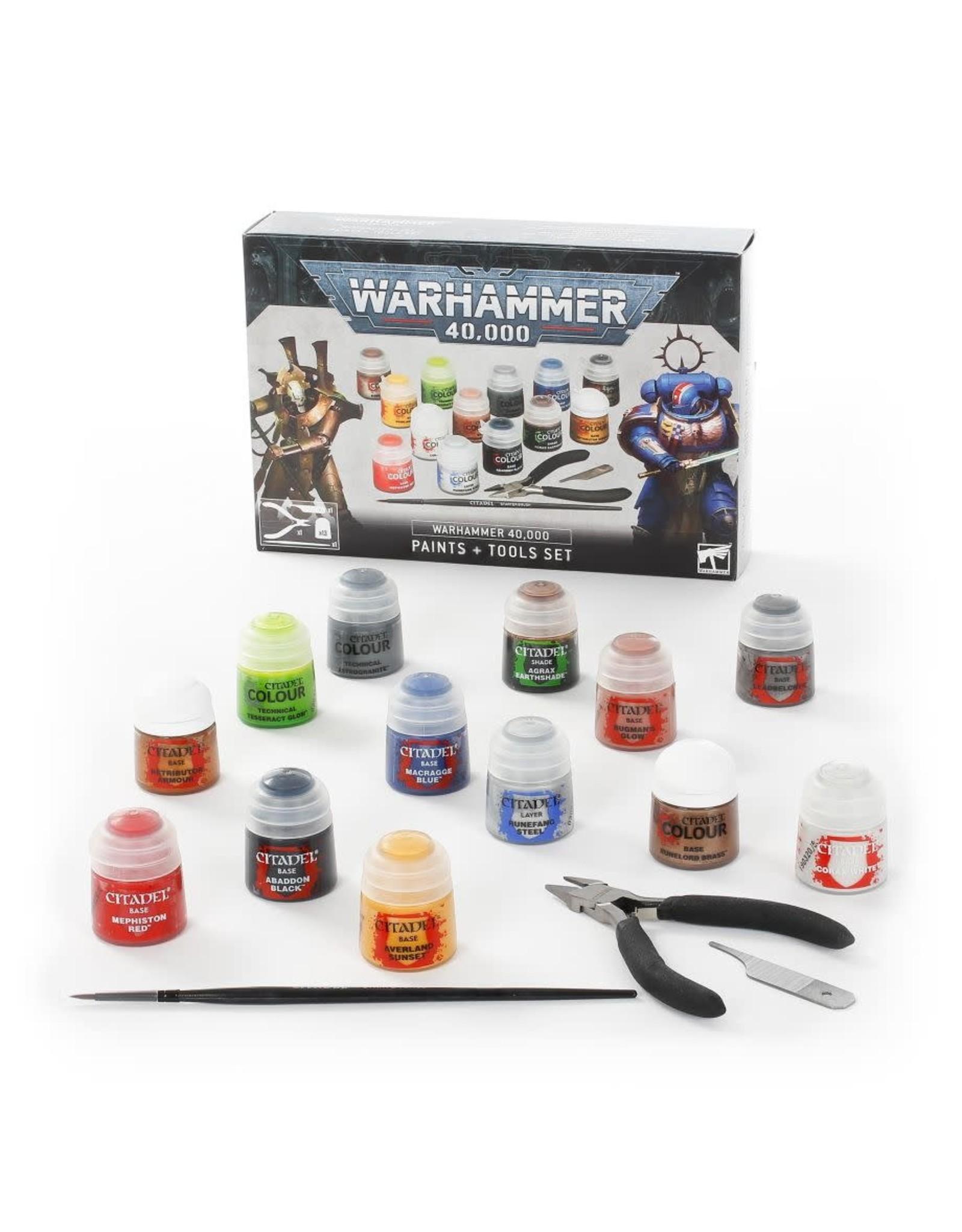 Games-Workshop Warhammer 40,000: Paints + Tools Set