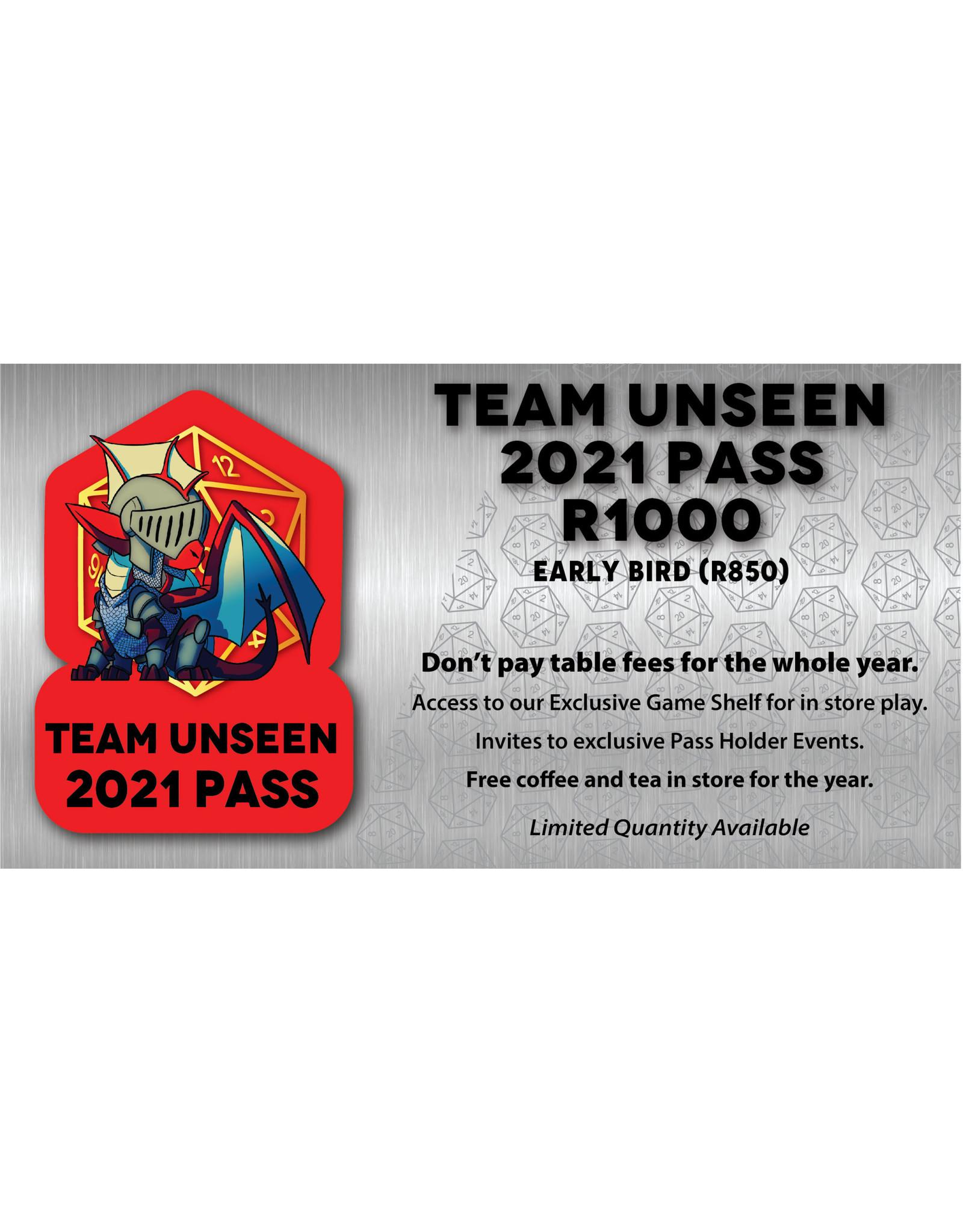 Team Unseen 2021 Pass
