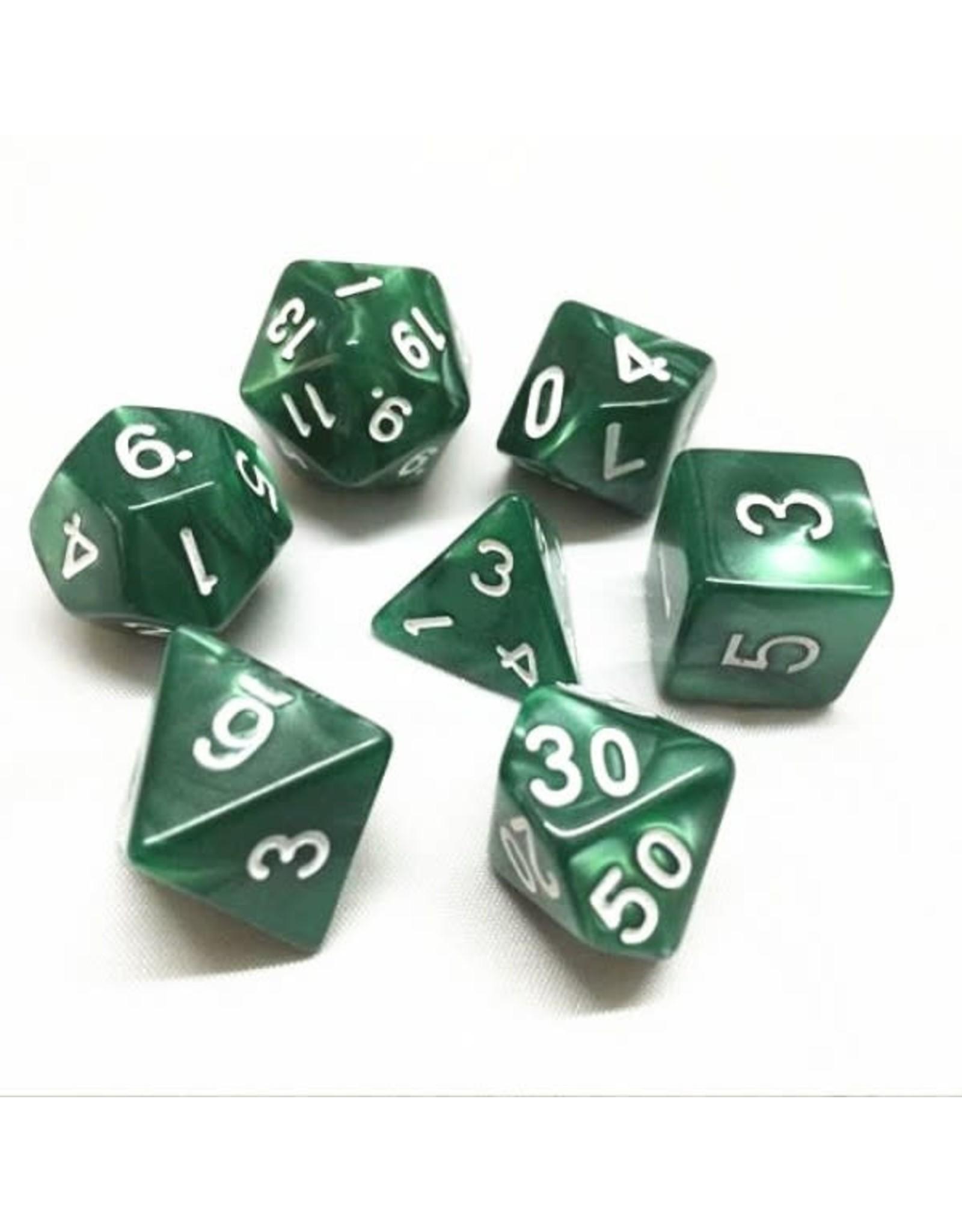 Dice Set  - Pearl  (Green)