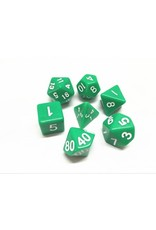Dice Set - Opaque Green