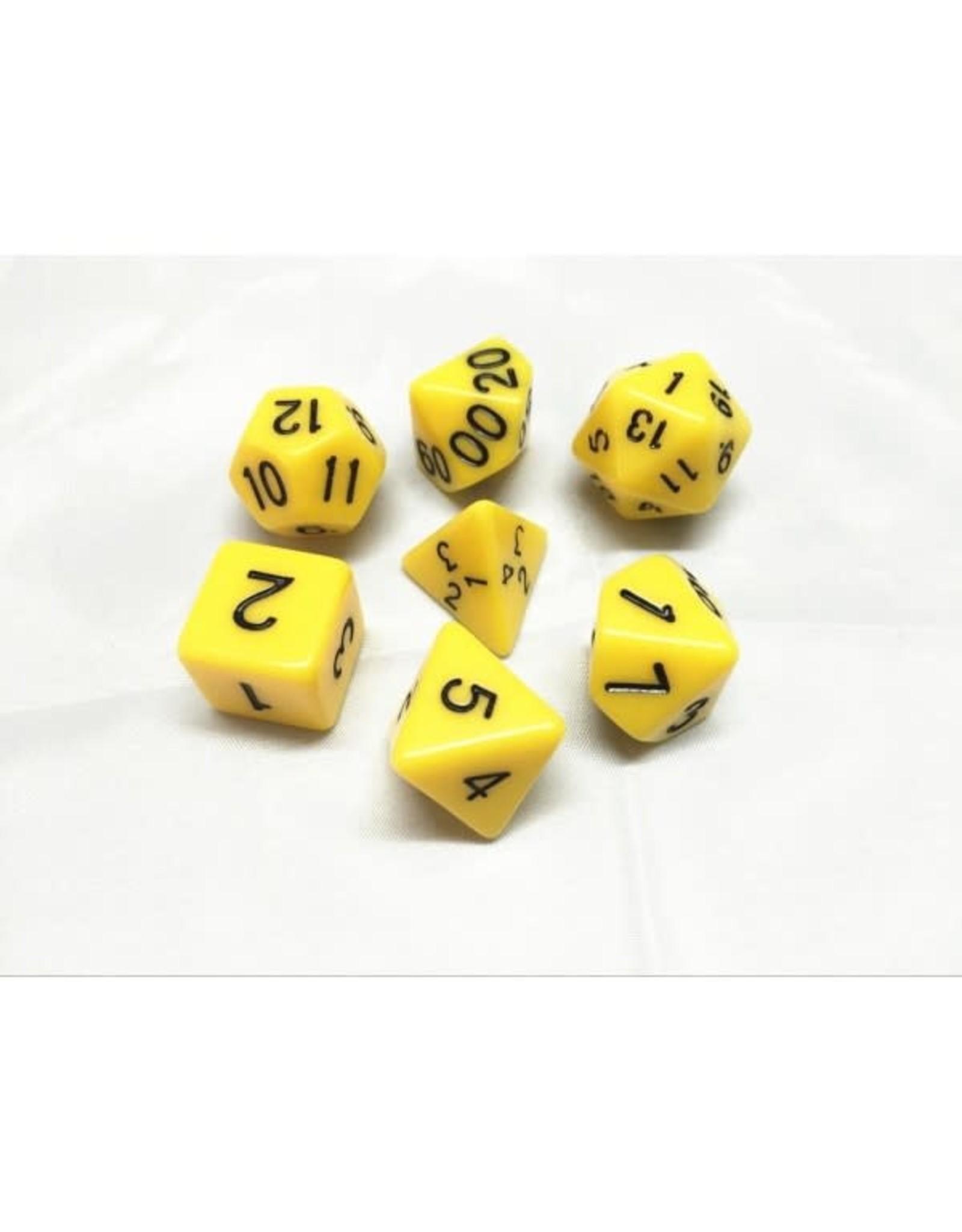Dice Set - Opaque Yellow