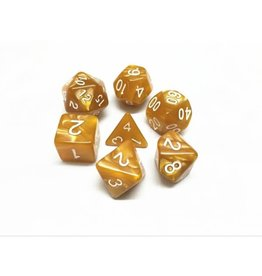 Dice Set  - Pearl  Golden