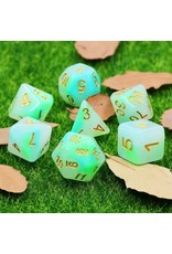 Dice Set - Jade ( Blue & Green )