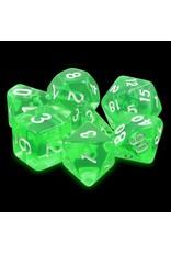 Dice Set - Emerald gems