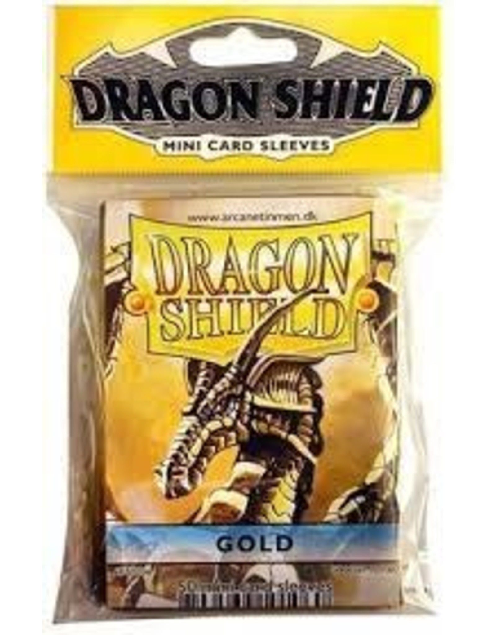 Dragon Shield Mini Sleeves - Gold (50 ct. in bag)