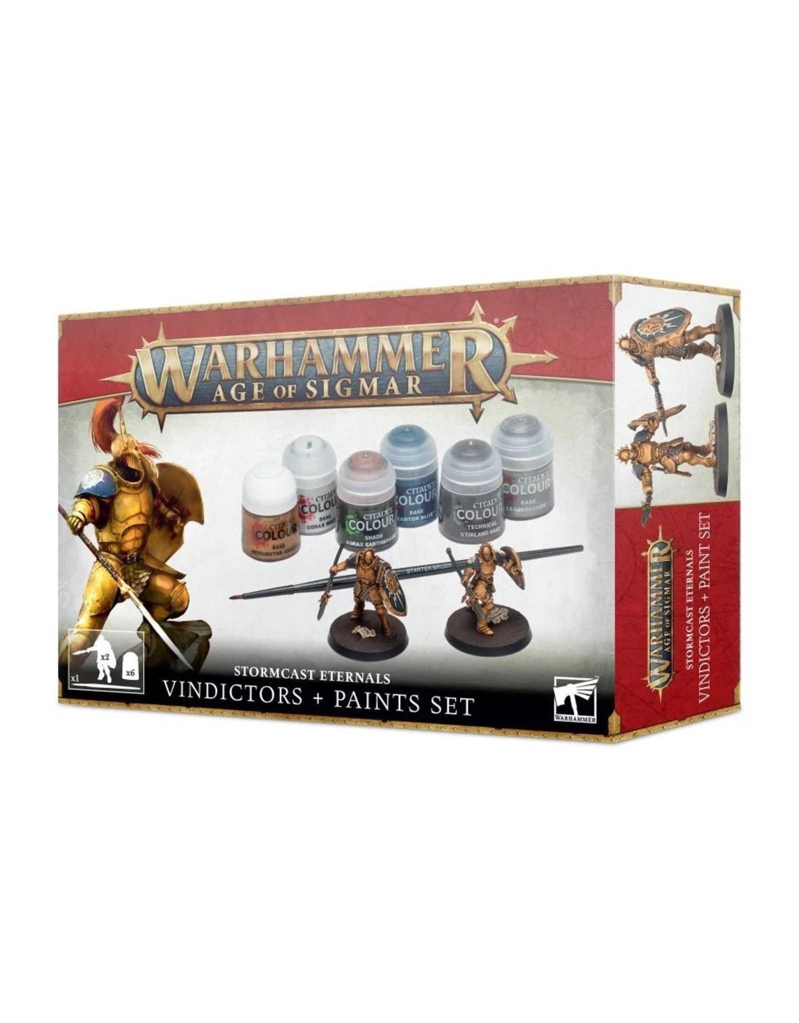Games-Workshop STORMCAST ETERNALS + PAINT SET (VINDICTORS)